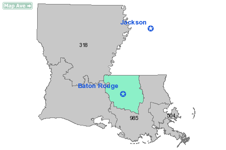 Area Code 225 Map