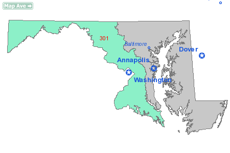 Area Code 301 Map
