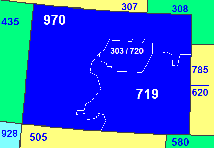 303 Area Code State