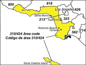Area Code Information - What area code is 424