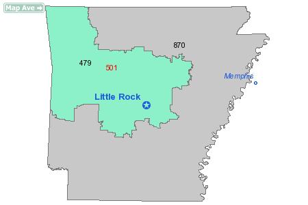 Area Code 501 Information
