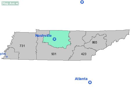 Area Code 615 Information