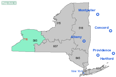 Area Code 716 Map State: NY - New York Active: True