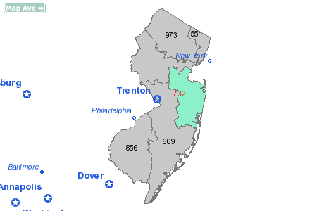 Areacodepng - 732 area code