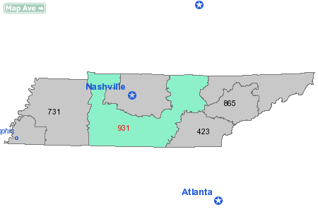 Area Code 931 Information